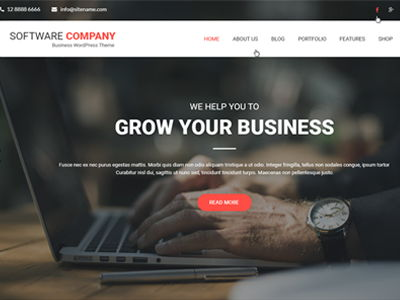 Software Company WordPress Theme
