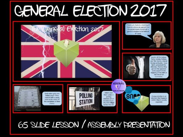 The General Election 2017 - 65 Slide Lesson / Assembly Presentation