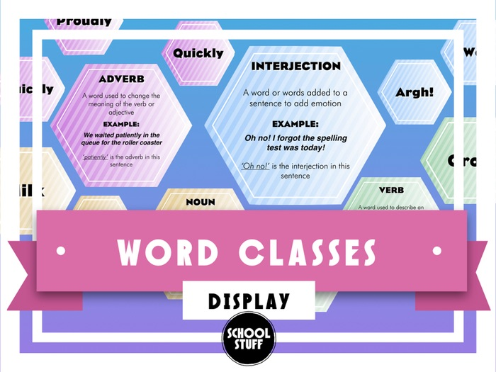 SPAG Display - Word Classes - School Stuff