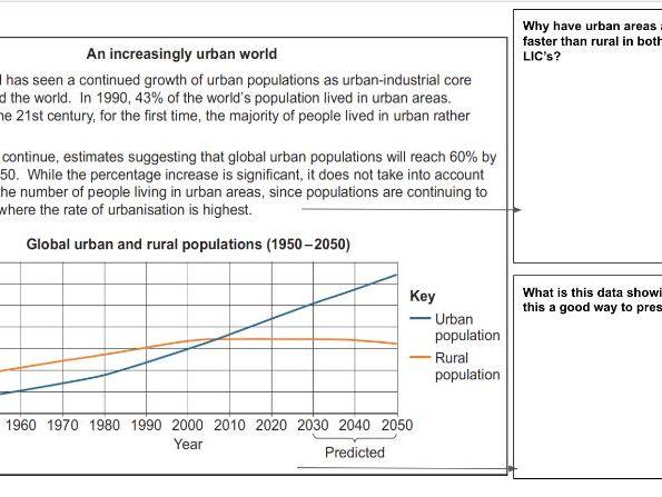 AQA Geography Pre-release workbook Autumn 2020 - Urban slums Paper 3
