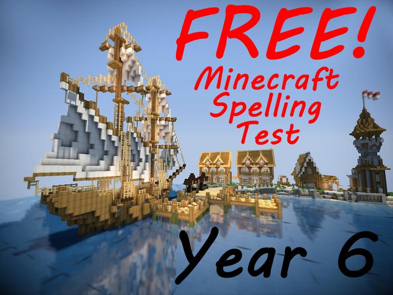 FREE Year 6 Minecraft Weekly Spelling Test