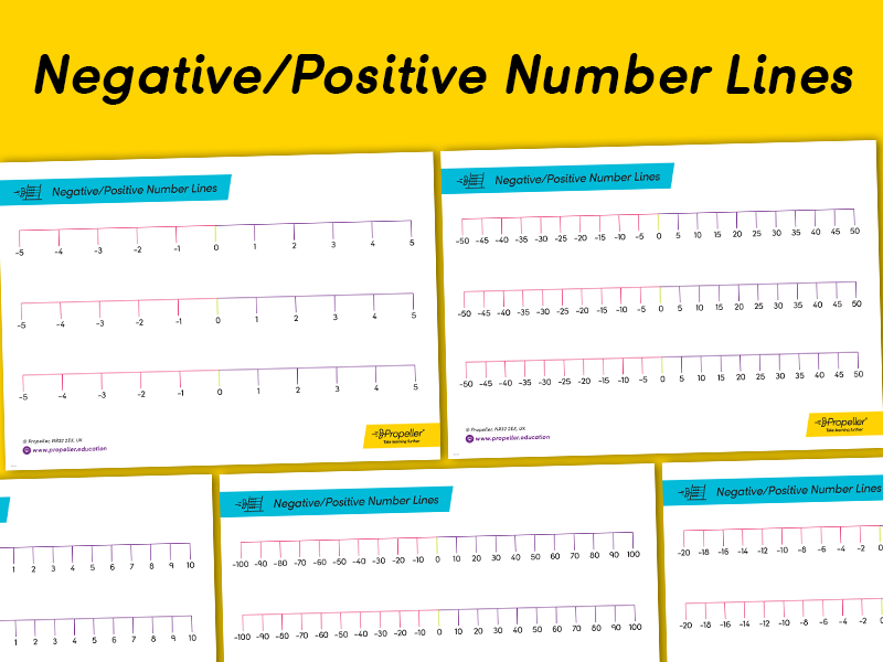 This is a picture of Number Lines Printable inside math