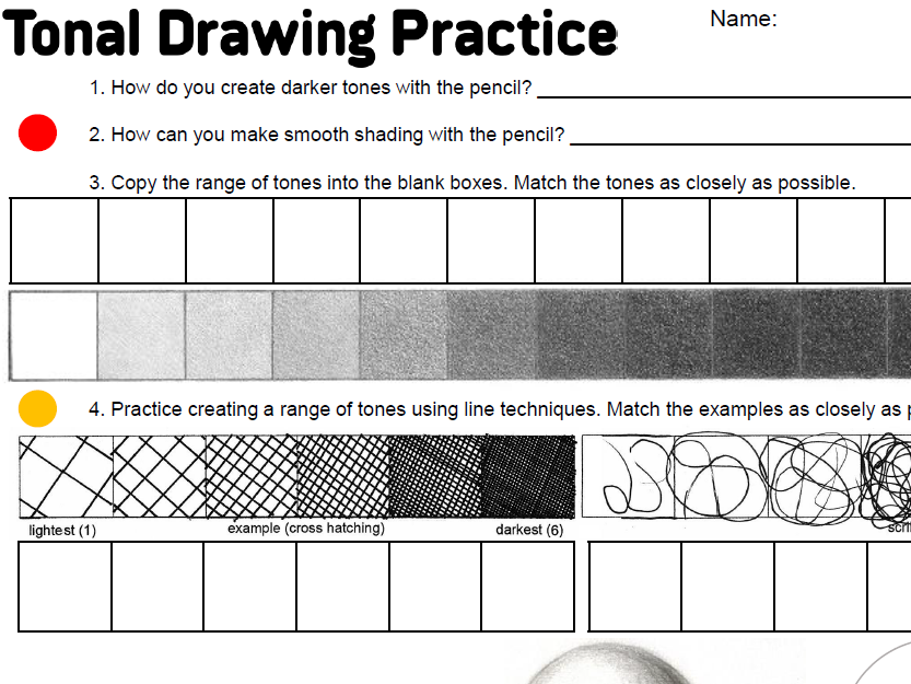 KS3 Tonal Practice Starter Worksheet