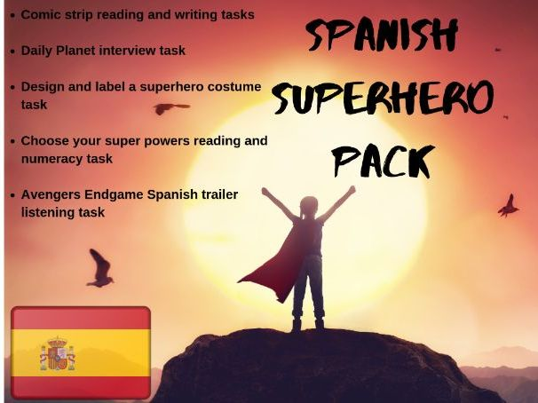Spanish Superheroes Lesson Pack