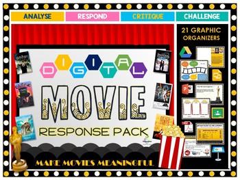 Digital Movie Response Pack (Google Classroom)