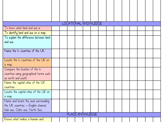 Year 1 Tracking Sheets