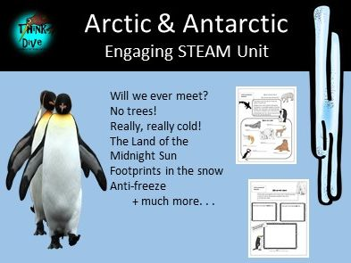 Arctic and Antarctic - Project Based Learning, STEAM, Biomimicry, KS1, NGSS