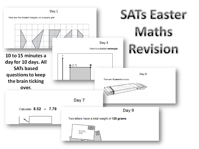 SATs Revision Maths - Daily Tasks for Revision