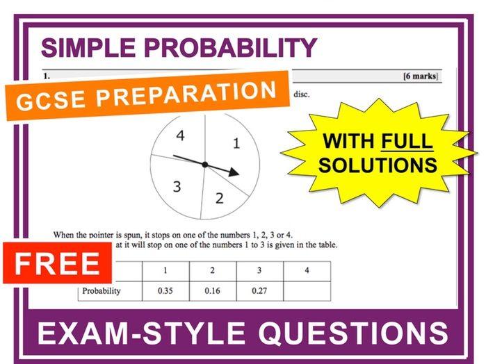 GCSE 9-1 Exam Question Practice (Single Event Probability)