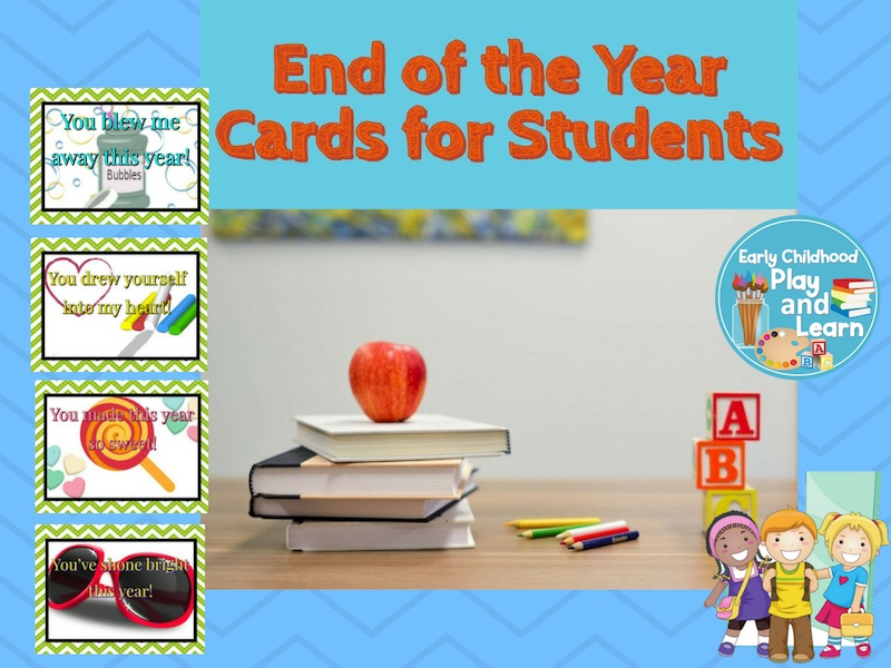End of the Year Cards for Students