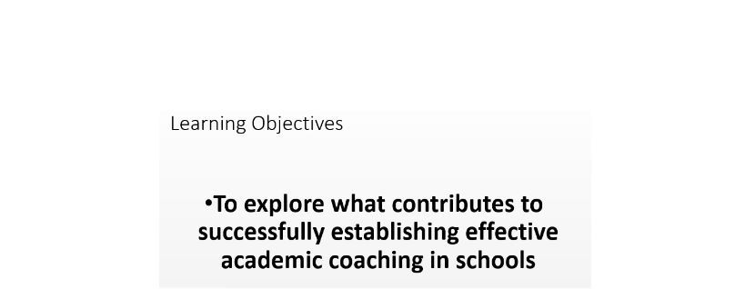 CPD session - Academic Coaching
