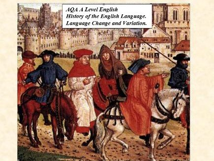 AQA A2 English language. History of English Language.