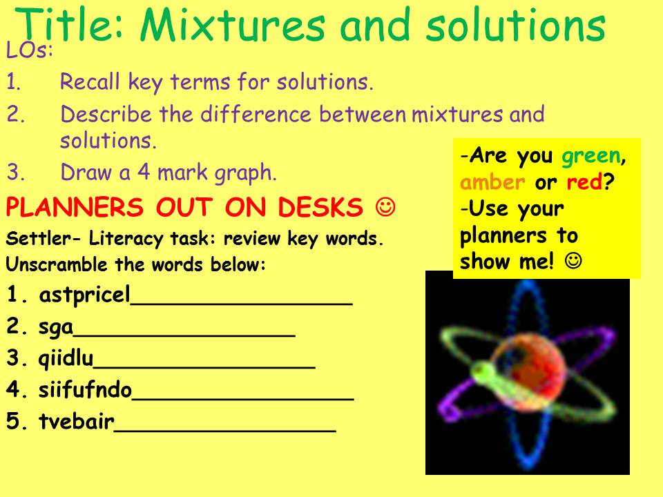 KS3 CHEMISTRY: MIXTURES AND SOLUTIONS