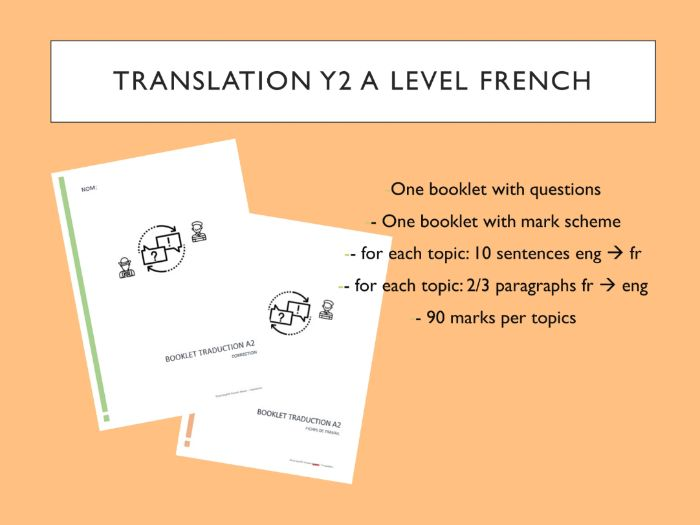 French A level (A2) Translation Booklet