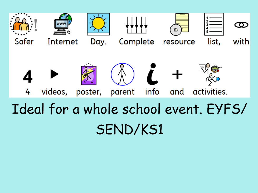 Special Needs Safer Internet Day Resources and videos - suitable for EYFS KS1 SEND
