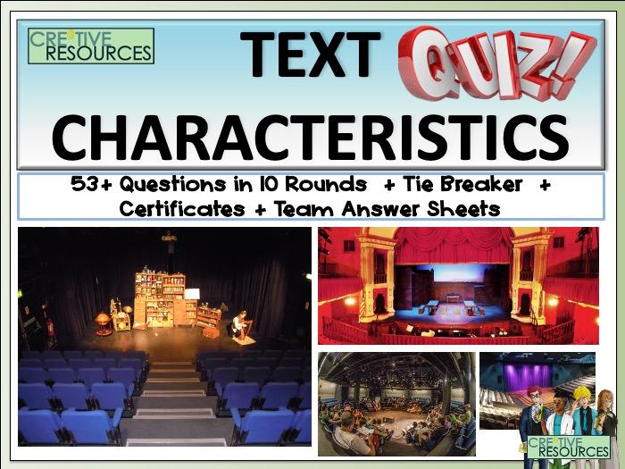 Text Characteristics Quiz
