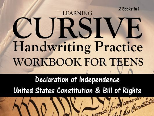 Learning Cursive: Handwriting Practice Workbook for Teens