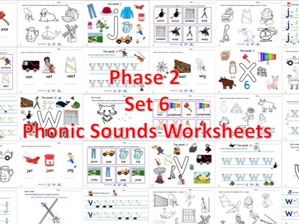 Phase2 Set 6 Phonic Sounds Worksheets