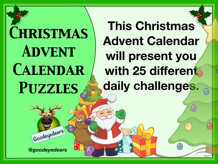Christmas Advent Calendar Daily Puzzles