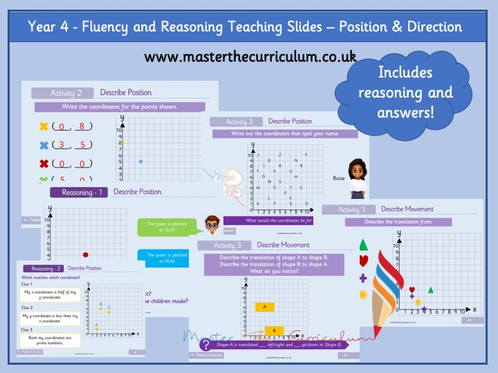 Year 4- Summer Term- Block 6- Position and Direction Fluency and Reasoning Slides- White Rose Style