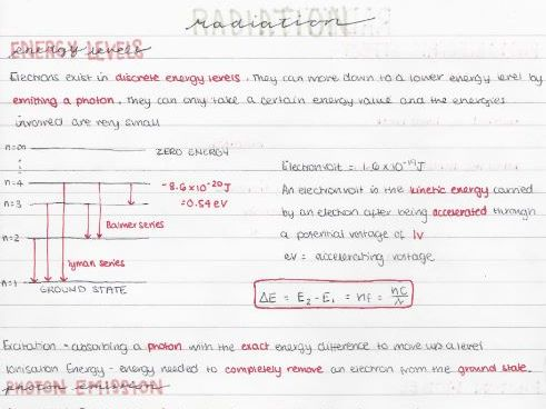 AQA AS Physics Radiation Topic Revision Notes