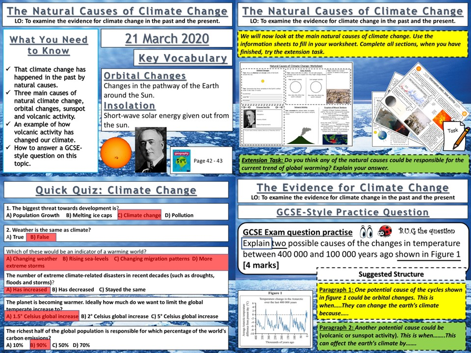 Climate Change: The Natural Causes of Climate Change