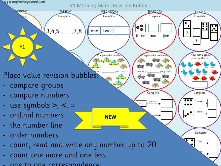 White Rose Year 1 Place Value Revision