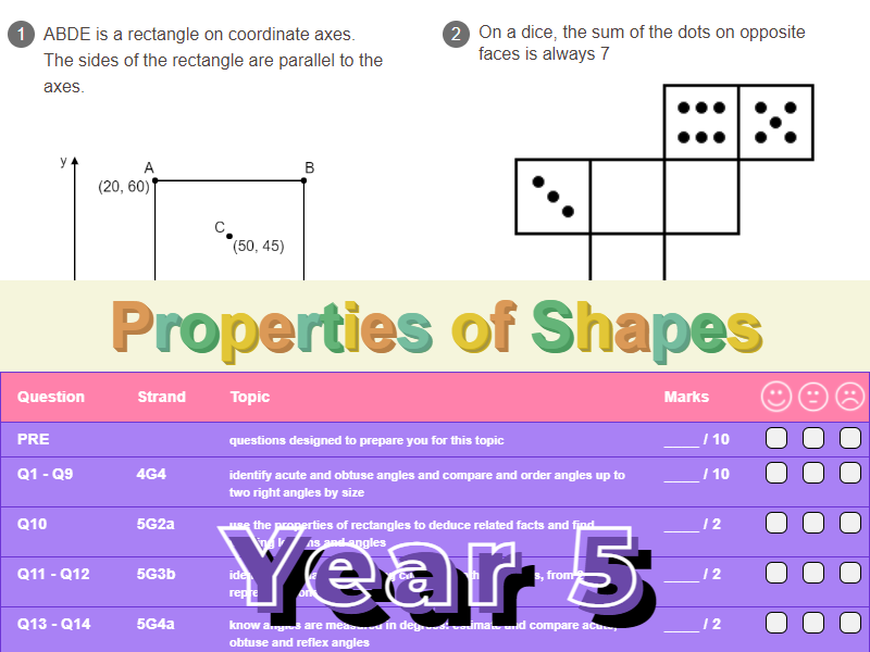Properties of Shapes Worksheet + Answers (KS2 - Year 5)