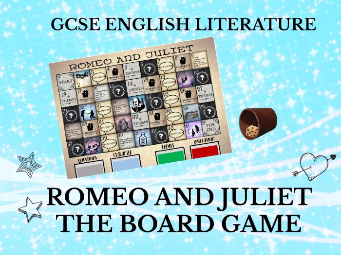 romeo and juliet  the board game  gcse english literature