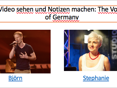 Using the comparative - The Voice of Germany