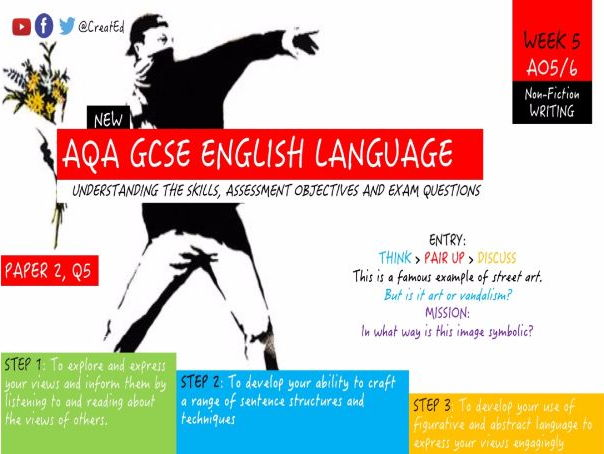 new gcse writing skills  full unit   english language