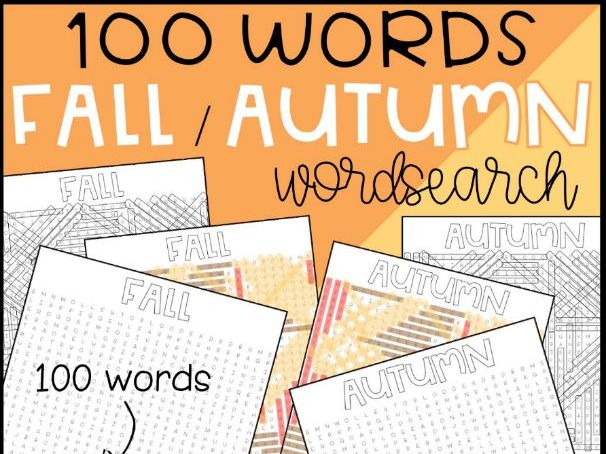 Autumn / Fall Word Search