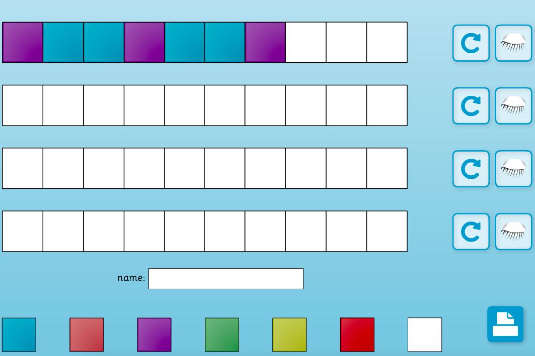 Creating Patterns Interactive Activity - KS1 Geometry