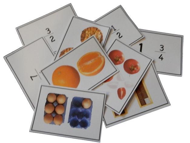 Improper fractions matching game SAMPLE
