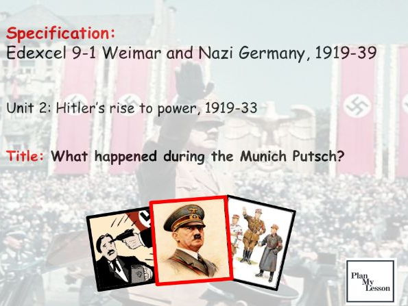 Edexcel 9-1 Weimar and Nazi Germany: L13 What happened during the Munich Putsch?