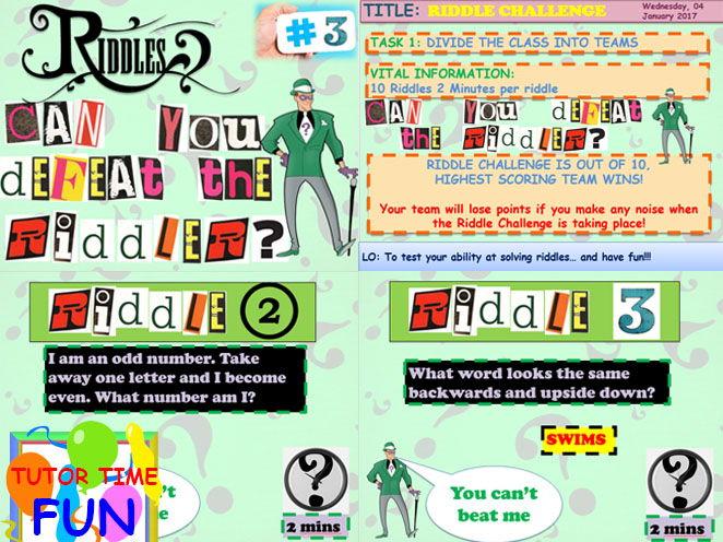 Tutor time Riddle challenge #3