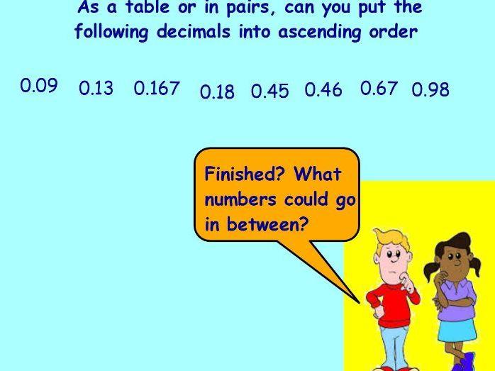 1 week decimal planning  and resources yr 6
