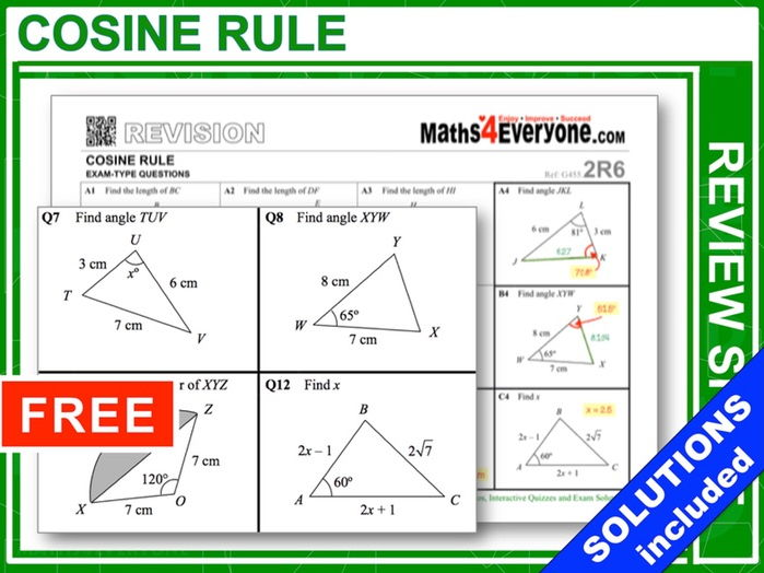 Cosine Rule (Topic Review)