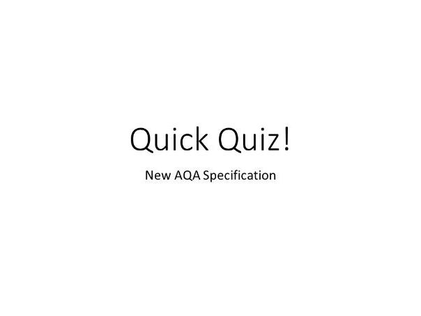 AQA Biology B11 Hormonal coordination Quick Quiz