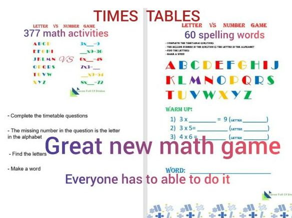 Numbers VS Letters game