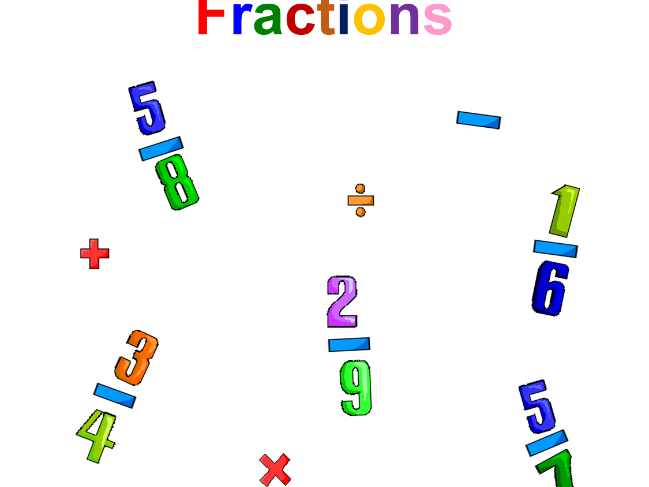 Fractions (adding, subtracting, multiplying, dividing)
