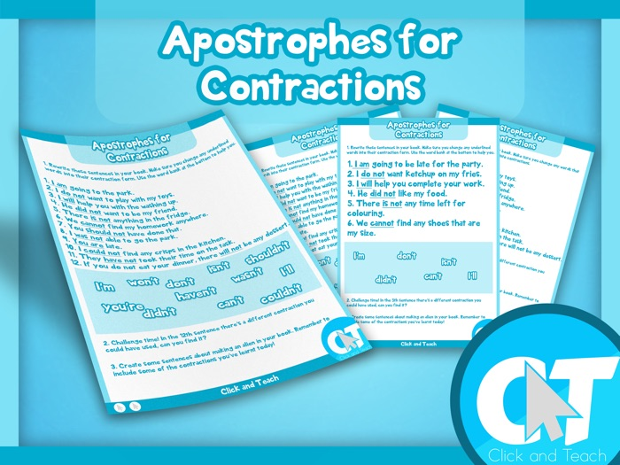 KS2 - Apostrophes for Contractions