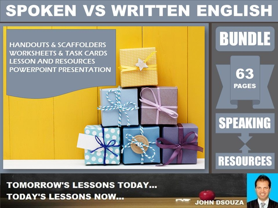 SPOKEN VS WRITTEN ENGLISH BUNDLE
