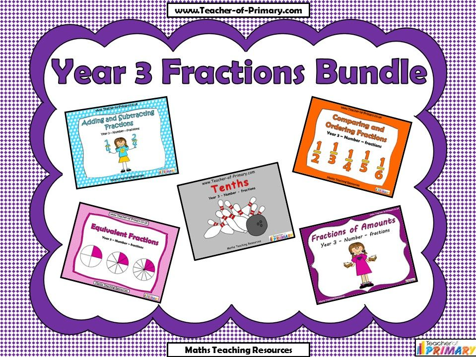 Year 3 Fractions Bundle