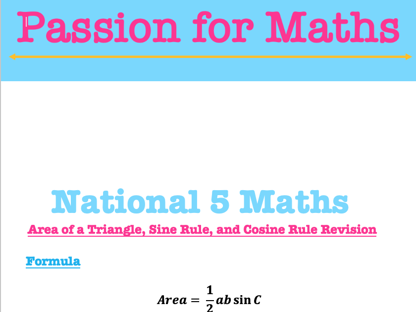National 4 and National 5 Maths Revision Packs