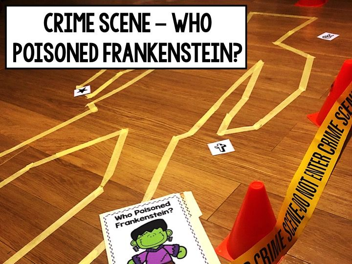 Who Poisoned Frankenstein? Halloween Crime Scene