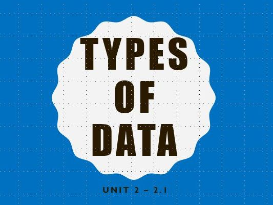 Types of data - Statistics 1