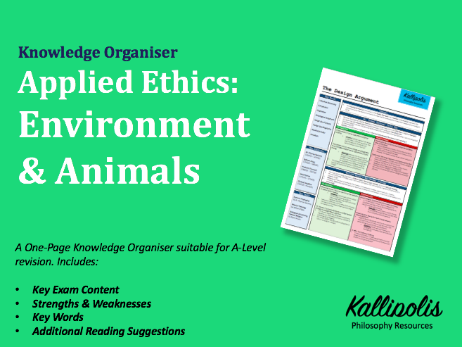 Environmental Ethics - Animals & Stewardship - Knowledge Organiser