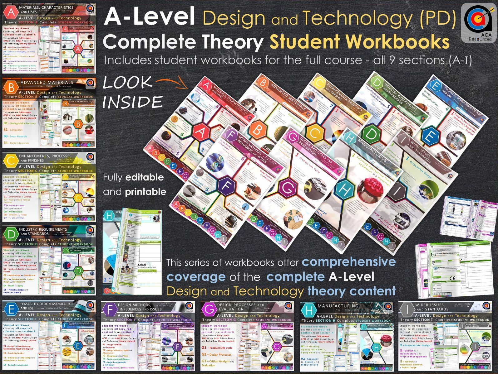 Complete A-Level DT Theory - Workbooks