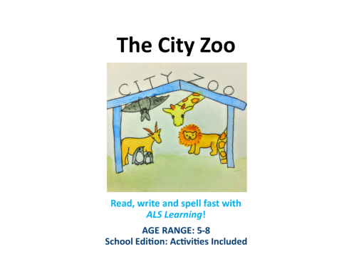 The City Zoo - reading book and activities